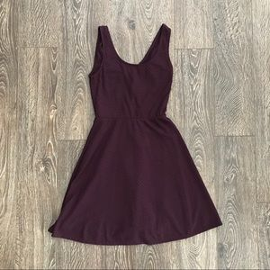 Pretty Maroon Fit and Flare Dress